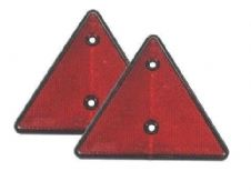 2x MAYPOLE RED TRIANGLE REFLECTORS TRAILER CARAVAN GATE CAR HORSEBOX LORRY BOAT
